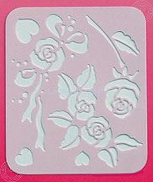 Picture of LeCreaDesign® Spirella® stencil roses