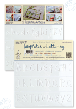 Picture of 2 Templates for Handlettering Alphabet style 2, Upper case+ Lower case+Numbers