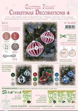 Bild von Glitter Foam Weihnachtskugel  Dekoration  Set 4