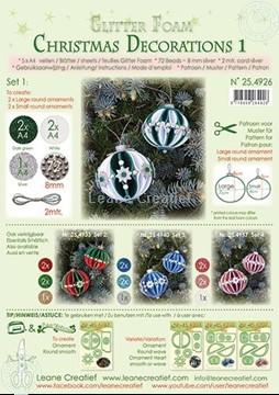 Bild von Glitter Foam Weihnachtskugel Dekoration Set 1