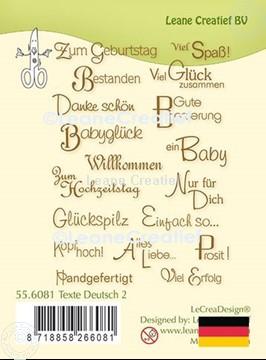 Bild von LeCreaDesign® Silikon Stempel  Texte Deutsch 2.