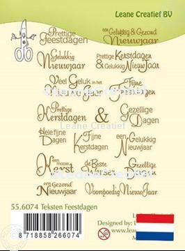 Bild von LeCreaDesign® Silikon Stempel  Texte Feiertage Holländisch