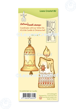 Bild von LeCreaDesign® Silikon Kombi Stempel  Weihnachtskugel & Kerze