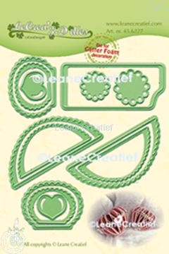Bild von Lea'bilitie® Glitter Foam Dekoration  Herz Wellenrand  Schneideschablone