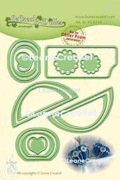 Bild von Lea'bilitie® Glitter Foam Dekoration  Herz glatte Kante Schneideschablone