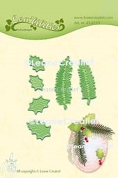 Bild von Lea'bilitie® Stechpalme Blätter & Tannenbaum Zweige Präge- und Schneideschablone