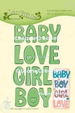 Bild von Lea'bilitie® Worte:  Baby, Boy, Girl, Love Schneideschablone